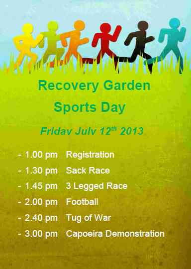 Recovery Garden - Sports day